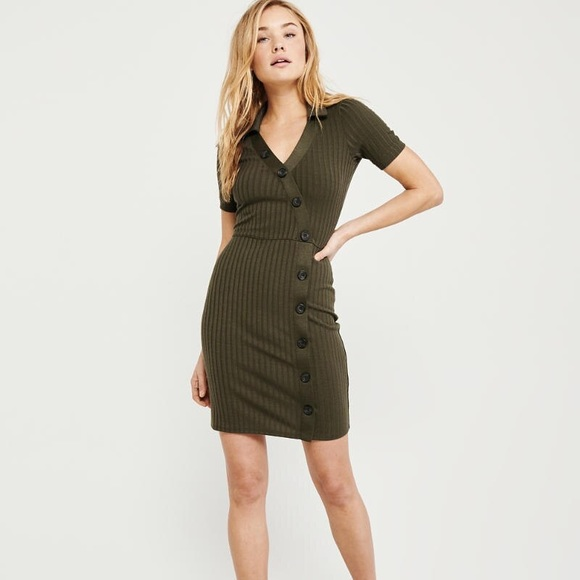 Abercrombie & Fitch Dresses & Skirts - Polo Knit Dress - Olive Green (tall)